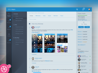 dappr - projects collaboration tool concept