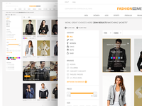 Search listing - ecommerce fashion ecommerce ux ui search results filters sliders price sort grid clean responsive nashatwork