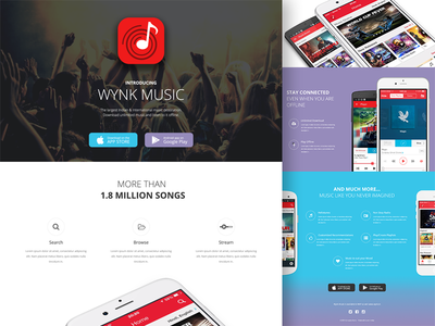 Wynk Landing Page