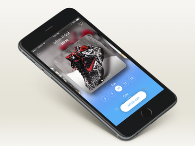 Product details, Shoes - Lebron nashatwork mobile design cards cart mobile app ux ios iphone