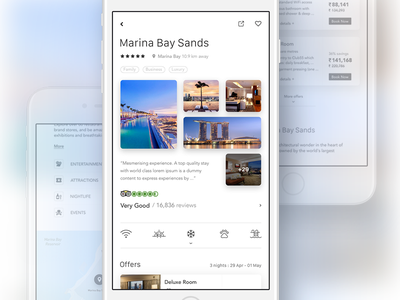 Hotel Details agency minimal clean app lifestyle hotel iphone 7 ui kit ios mobile ui ux
