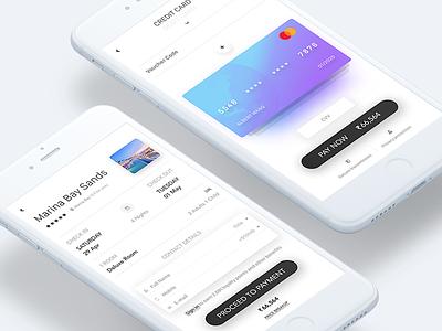 Book & Pay minimal clean app lifestyle hotel iphone 7 ui kit ios mobile ui ux