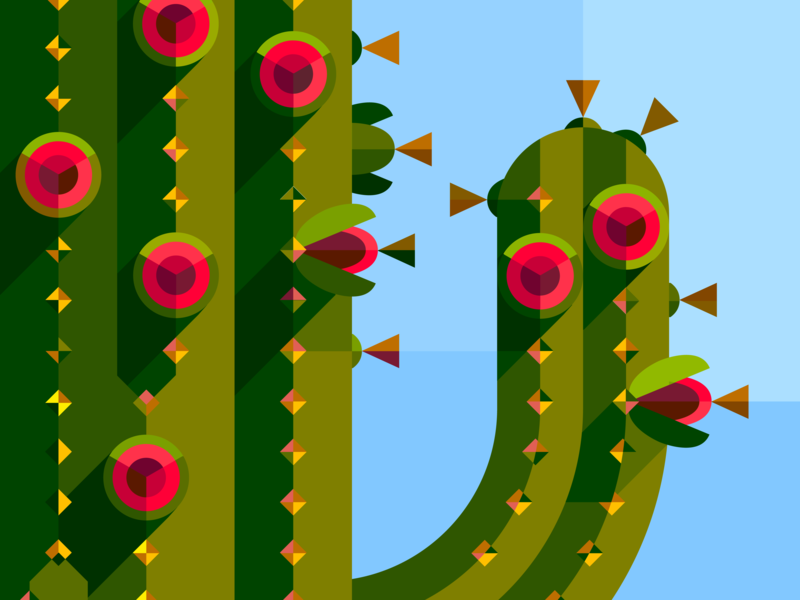 Saguaro Blooms Glass