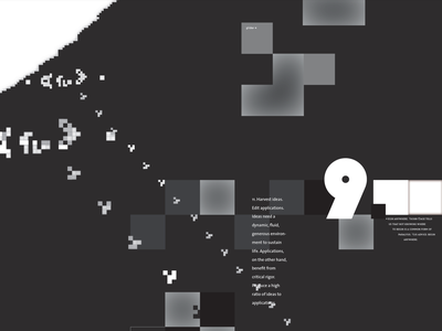 Crop: An Incomplete Manifesto for Growth type white black grayscale poster life conway game pixel pixels typography digital nature fragment abstract design crop