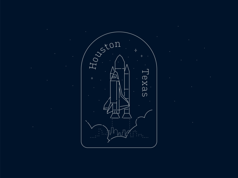 Houston Space Sticker