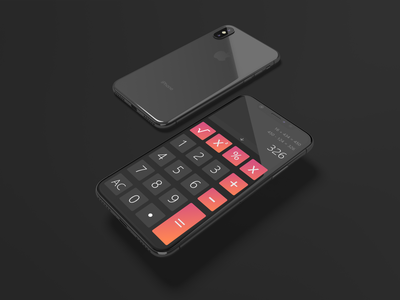 Calculator UI Design typography design daily ui illustration ui daily 100 challenge unique design dailyui