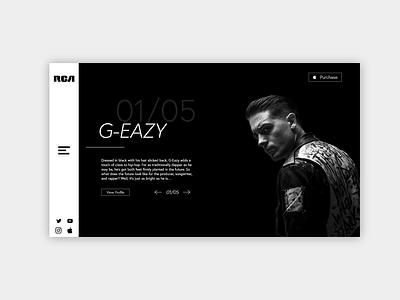 Website Redesign Concept - RCARecords.com speed art website design branding unique design web design