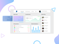 Financial Dashboard Design - Paypal Redesign