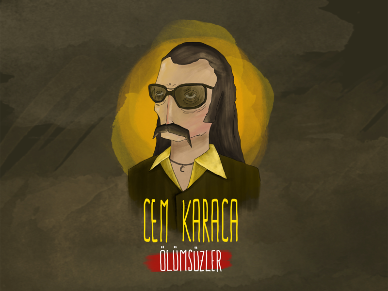 Cem Karaca - King of Turkish Anatolian Rock Music digitalpainting digitalart draw artwork character illustration sketchbook sketch legend anatolia rock music