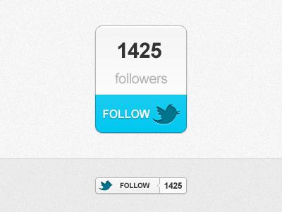 Little Twitter boxes twitter follow boxes blue clean soft