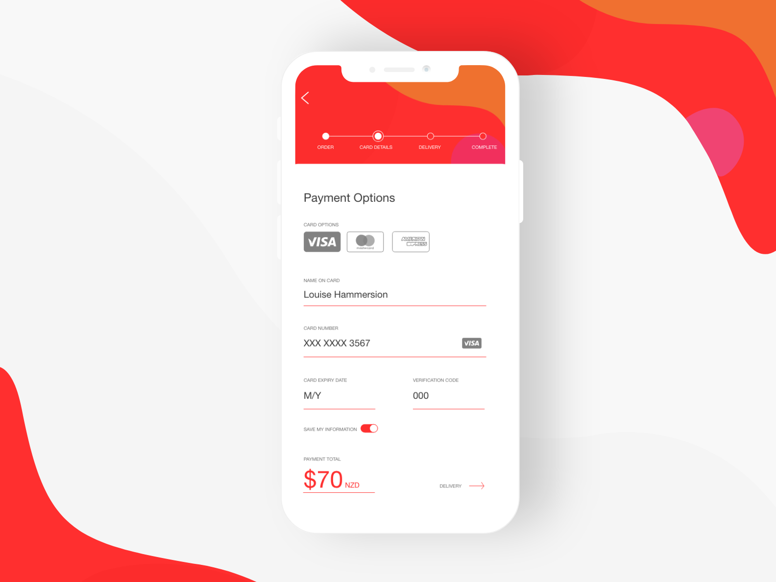Mobile Payment UI