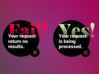 Daily UI Challenge #011 : Flash Message (Error/Success)