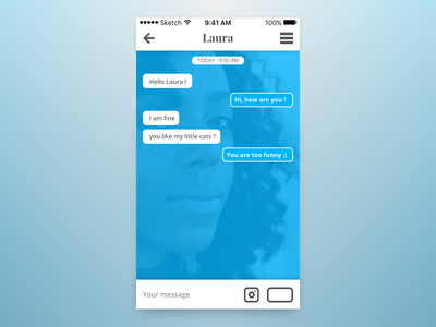 The Daily UI Challenge - Day #013 : Direct Messaging chat messaging dailyui daily interface ui