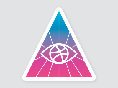 Dribbble's Eye, Source Of Inspiration sticker mule playoff symbol logo eye dribbble sticker