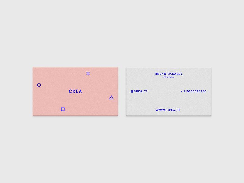 Crea Business Cards logo brand print identity blue pink branding graphicsdesign design business cards minimal
