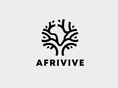 Afrivive branding logo design design logo branding brand logo design africa