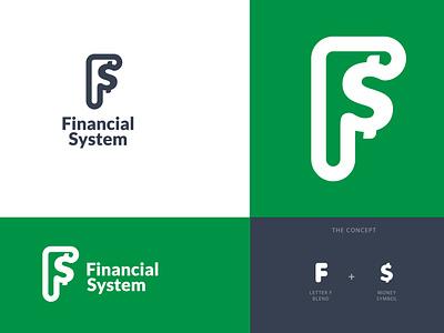 Financial System logo portal system logo design logo design branding brand