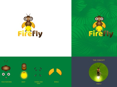 Firefly vector illustration logo design logo design branding brand