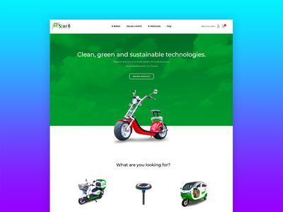Star8 Green filipino local pinoy philippines solar lights eco friendly green ux web design ui electronic e-card evehicle ebike star8