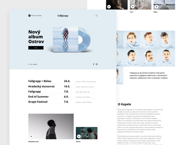 Fallgrapp - One page one page clean ui ux simple clean interface album band music web design simple minimal clean fallgrapp lukas misko