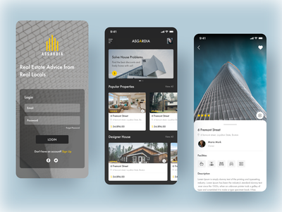 Real Estate App clean ui designs ux ui app design application flat explore mobile real estate design app