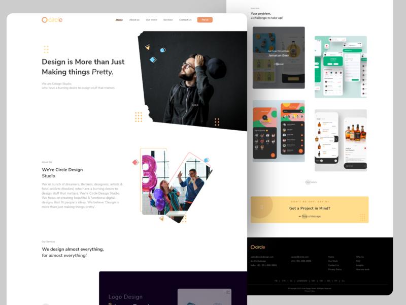 Circle (Design Studio) typography type minimal icon vector illustration branding clean app design