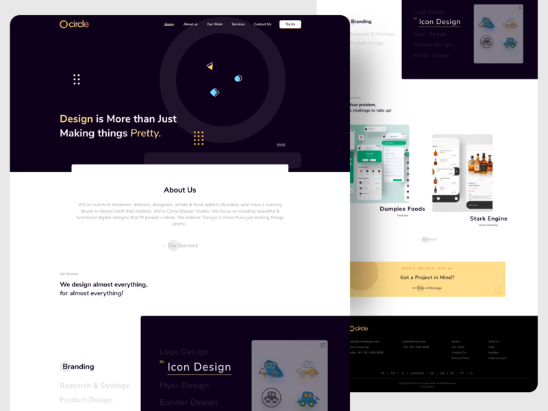 Design studio typography type minimal icon vector illustration branding clean app design