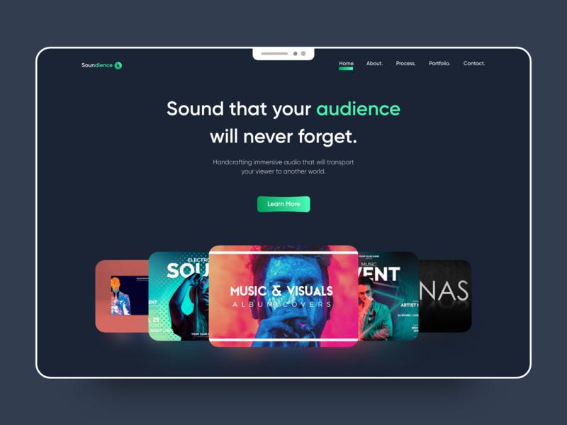 Soundience (Music Website) typography type minimal icon vector illustration branding clean app design
