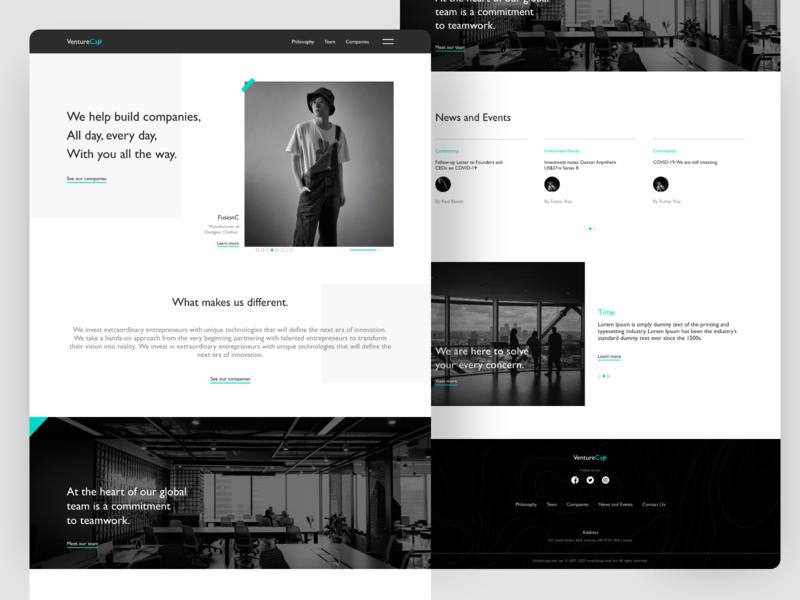 Venture Cap minimal icon illustration vector branding clean app design website concept website builder webdesign concept website design