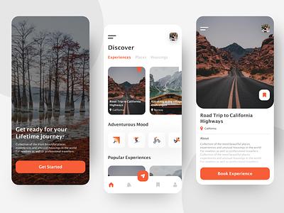Travel App Design typography type minimal icon illustration vector branding clean app design logo
