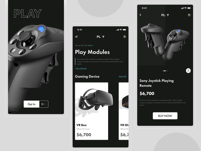 Play ( Gaming Gadgets ) game ui game art ux ui logo icon vector illustration branding clean app design application game design app design