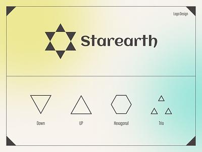 Starearth Logo Design clean minimal logo identity vector branding illustraton