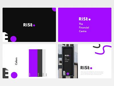 Rise (The Financial Centre) financial centre financial clean identity minimal vector illustration logo branding