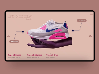 Shoes Website Animation