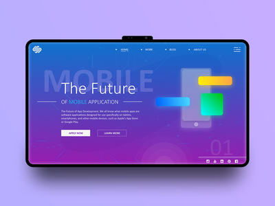 The Future (Web Page) landing  page ux fitness minimal logo icons illustrator icon clean vector ui brand animation web typography type ios design branding