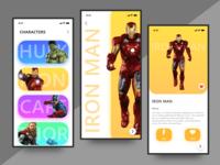 Game Character Detail Screens
