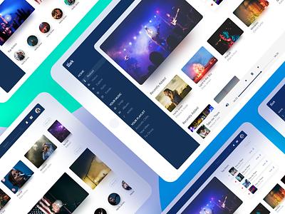 Stark Music World typography icon type illustration clean app branding vector design music dashboard adobe xd uiux music ui music art music app ui music player tablet app tablet music music app