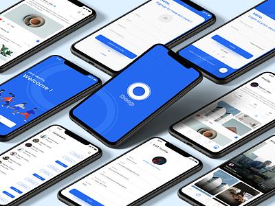 Doop (Social App) minimal ui typography icon type vector illustration clean app branding design media kit