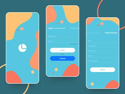 Login Flow ui typography icon type vector illustration clean app branding design