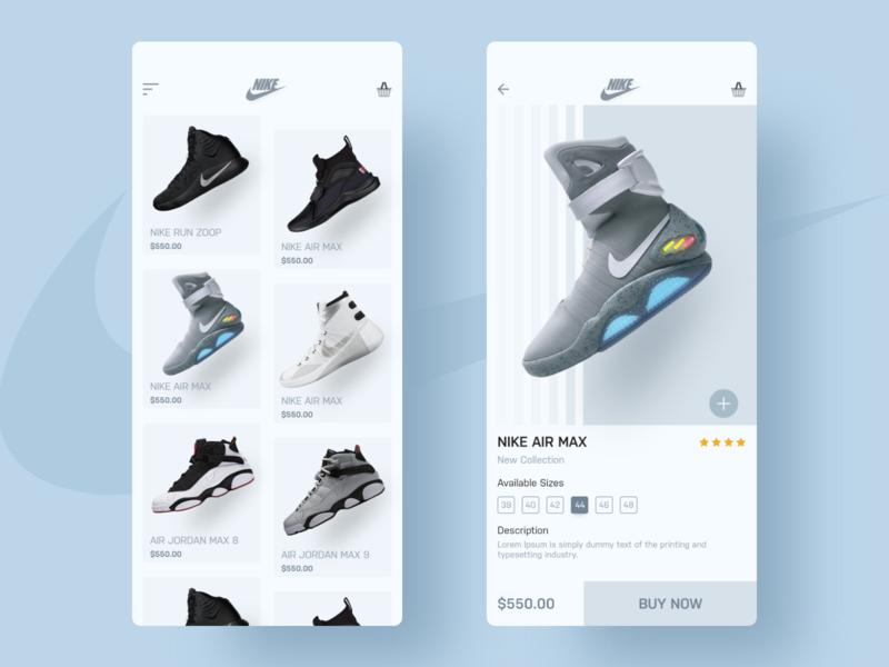 Nike typography minimal type icon illustration vector clean branding app design