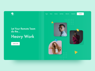 TeamFree (Website) team explorer website design ui design web design design website