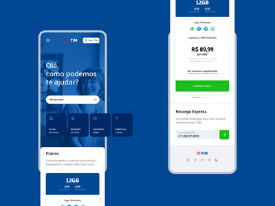 First Challenge - Concept Design for TIM Mobile mobile first tim mobile components ui cards