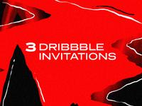 3 Dribbble Ivitations | Isaque Pereira aka RIZKO