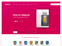 Product landing page for B.blend | Isaque Pereira aka RIZKO