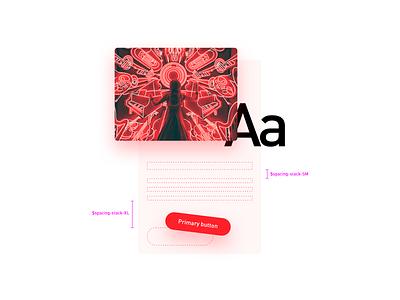 Component composition component typogaphy meiuca claro brasil card design tokens design system ui