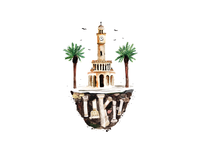 Izmir Clock Tower Illustration
