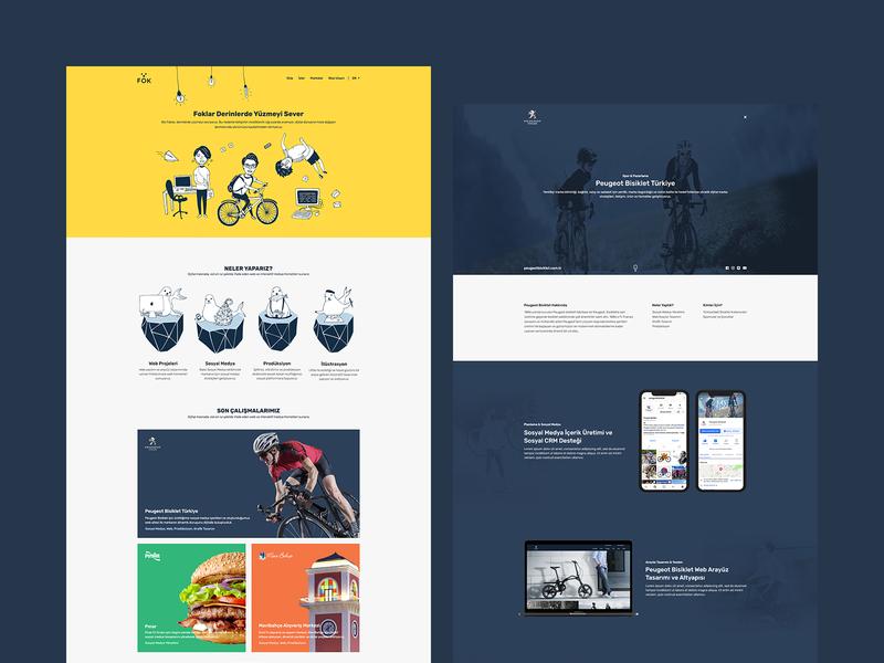 Fok Digital Agency UI Design
