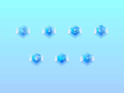 hello  dribblers! 2.5D icons color block icon 3d