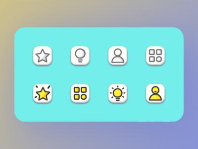 hello dribbbles -Icon sketch icon design ui color