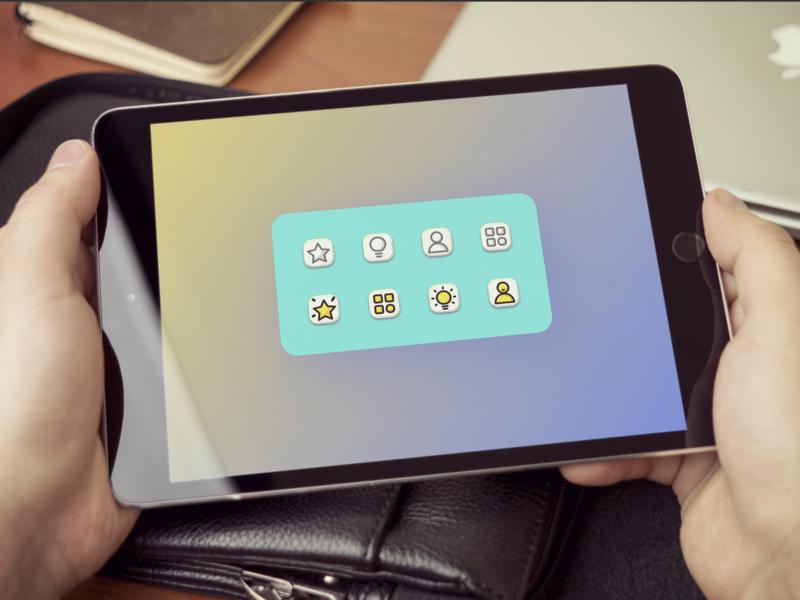 Icon to show visual design color icon
